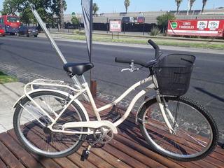 Bicicleta De Paseo Rodado 26, Color Beige.