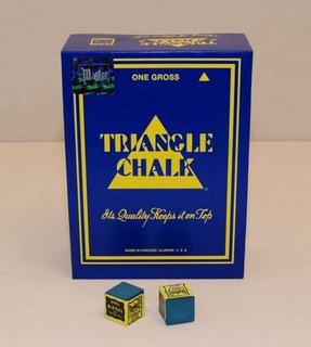 Docena De Tizas Taco De Billlar (cosmeticos) Triangle Chalk
