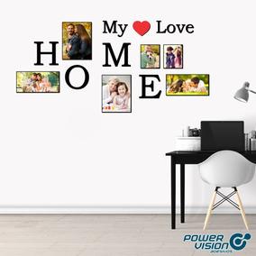 Quadro Mosaico Home My Love Personalizado Letras 3d 5mm