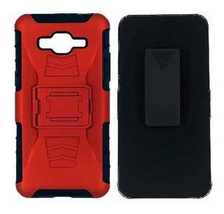 Funda Clip Uso Rudo Samsung Grand Prime J2 Prime Rojo Azul