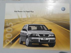 Gol Power 1.6 Total Flex 2005 Catálogo Brochura Folder