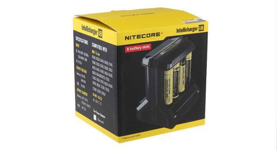 Carregador De Bateria Nitecore I8 18650 26650 Rcr123