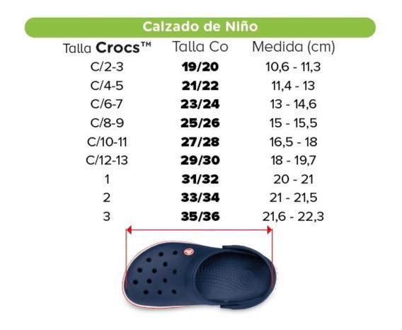 Crocs Kids Talle C 8_9 Color Marrón