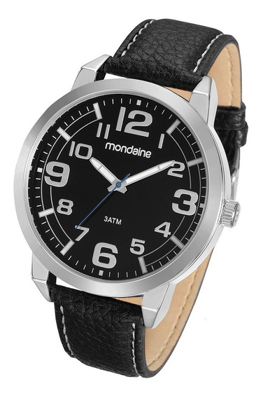 Relógio Masculino Mondaine 83298g0mknh1ka Pulseira De Couro