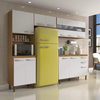 Cozinha Compacta 4 Peças Balcão Com Tampo 3 Portas Be