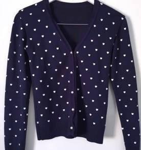 Blusa De Frio Feminina Cardigan Suéter Estampada