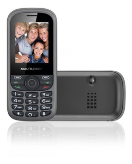Celular Up 3chip Quad Cam Mp3/4 Fm Preto/cinza Multilaser