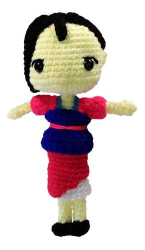 Imagen 1 de 2 de Peluche Mulán Disney Crochet Amigurumi