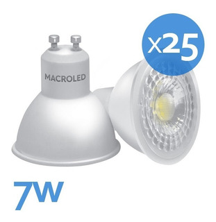 Dicroica Led 7w Macroled Pack X25 490lm Equivale 50w