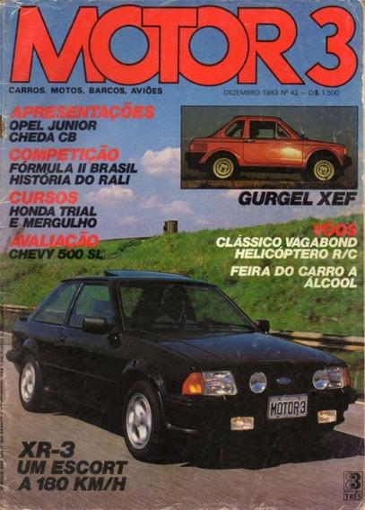 Motor 3 N°42 Escort Xr3 Chevy 500 Sl Gurgel Xef Cheda Cb
