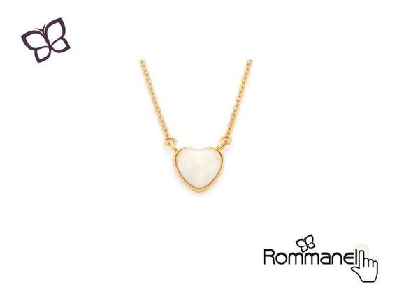 Gargantilha Pingente Coração Pérola Rommanel 532018