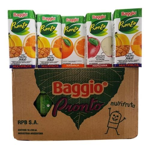Jugo Baggio 200ml (pack X 18un) - Barata La Golosineria