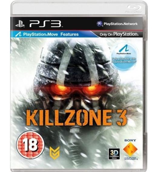 Jogo Ps3 Killzone 3 (usado) Midia Fisica
