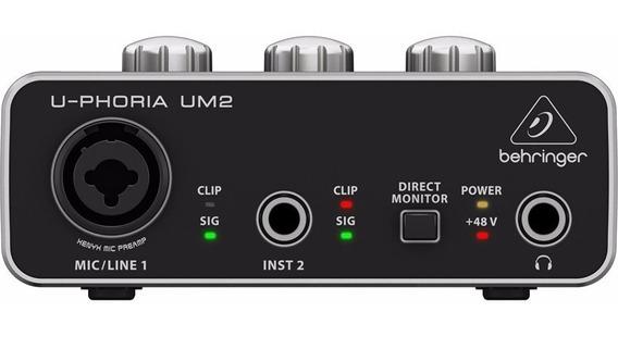 Interface De Áudio Behringer Um2 Usb U-phoria Xrl Trs