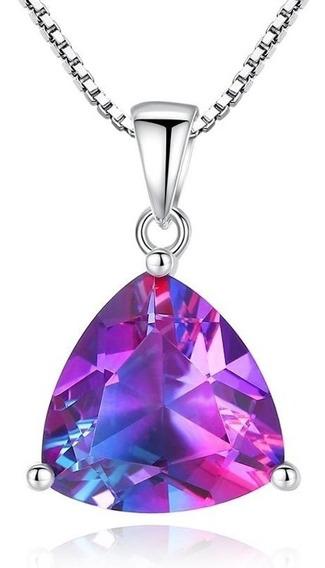 Dije Topacio Místico Ak Jewelry Plata 925 Cadena Regalo