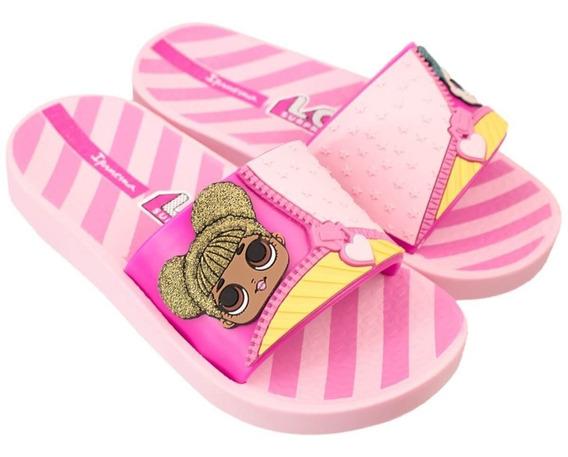 Chinelo Slide Infantil Menina Grendene Ipanema Lol Surprise