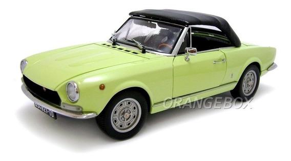 Fiat 124 Spider Bs1 1970 Sunstar Platinum 1:18 Amarelo-4921
