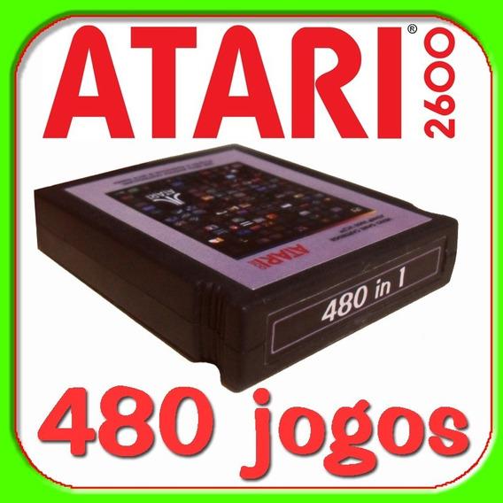 Atari Cartucho Com 480 Jogos Menu Na Tela !!