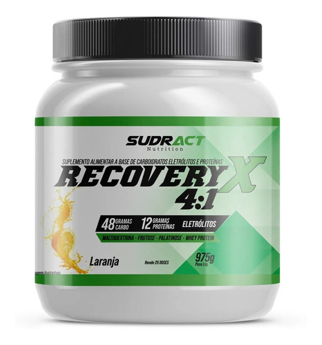 Recovery X 4:1 975g Sudract Malto Whey Protein Palatinose
