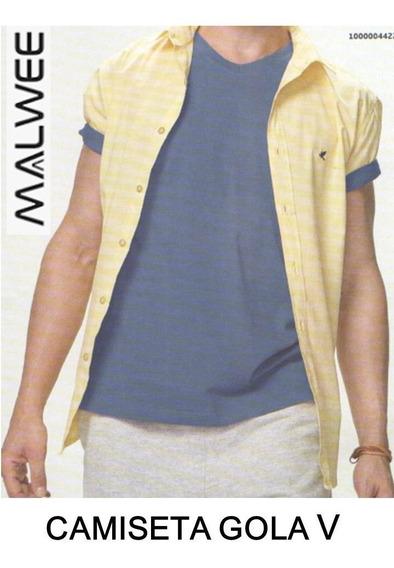Camiseta Masculina Malwee Gola V Basica