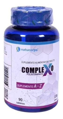 Suplemento Natucorps Complexo X Polivitamínico De A-z