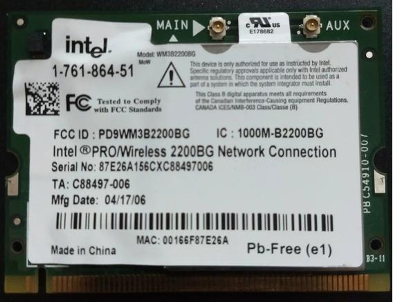 Placa Interna Wifi Intel Pro/wireless 2200bg Dell - Vaio Etc