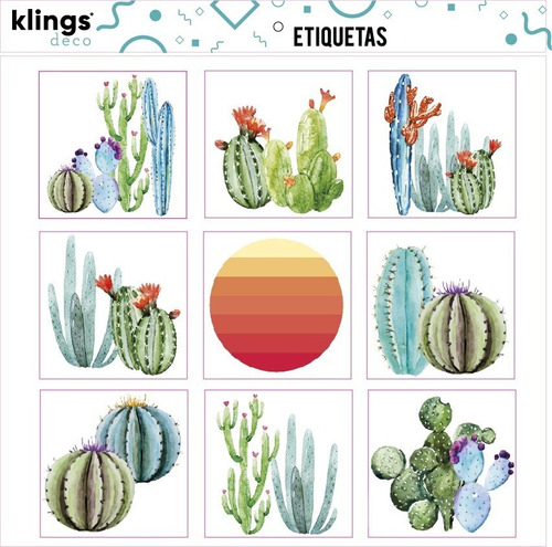 Imagen 1 de 2 de Etiquetas Diseño Cactus  Trasparenes Para Frascos Botellas
