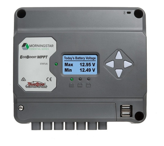 Regulador Solar Mppt Morningstar Ecoboost Display 30a 12/24v