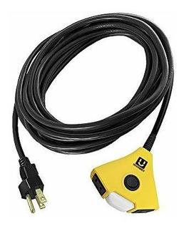163 Pro Power Cable De Extensión Sjtw 3clavijas Portá