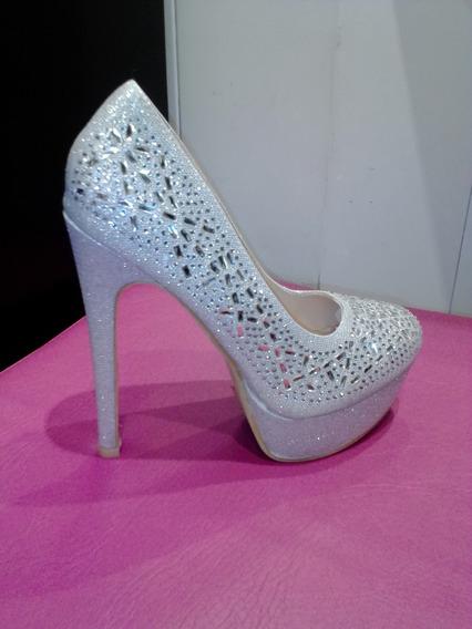 Zapato Dama Taco 15 Cm Talle 37,39,41