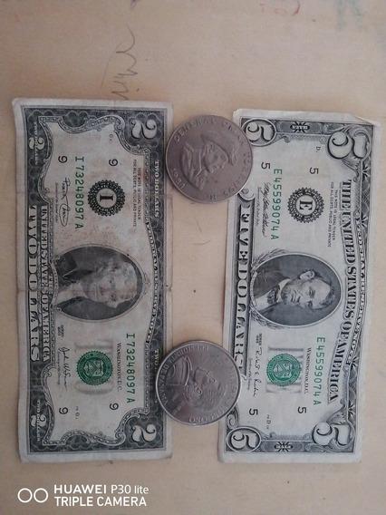 Vendo Billetes 5 Y 2 1995 2003 Monedas 1984 2004
