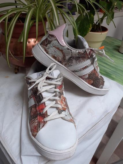 Zapatillas Nro. 37 Mujer Blancas