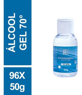Álcool Gel Antisséptico 70 Inpm Haze 50g Frasco Kit C/ 96un