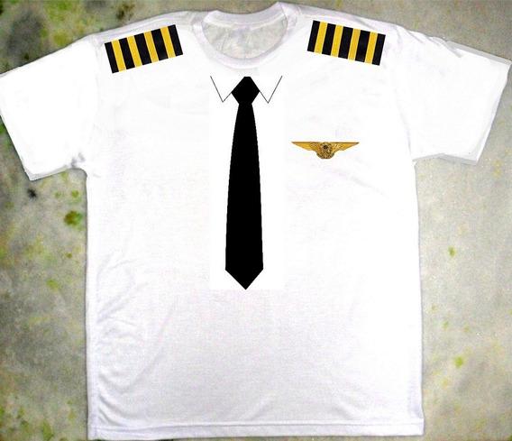 Camiseta Piloto De Avião Fantasia Criativa