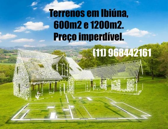 L. Lotes, Bom Investimento, 600m E 1200m Em Ibiúna