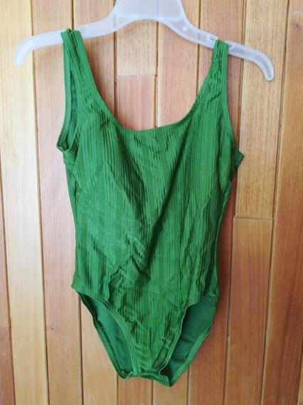Traje De Baño Completo Color Verde