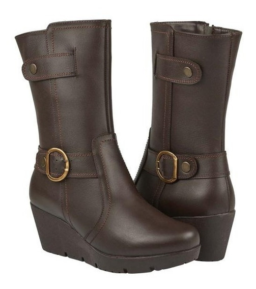 Bota Media Dama Invierno Chocolate Mundo Terra 016692