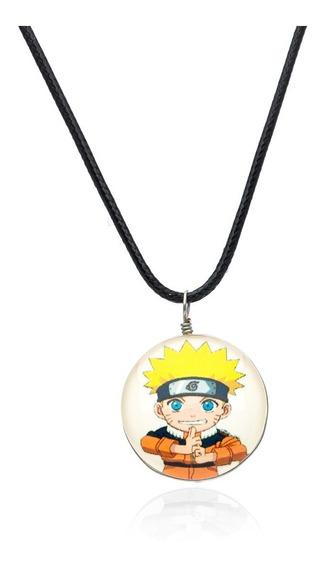 Cordão Colar Naruto W-125 Pingente Anime Gamer Desenho Mangá