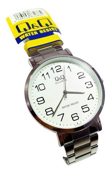 Reloj Q&q By Citizen Hombre Plata Caballero Plateado Orig