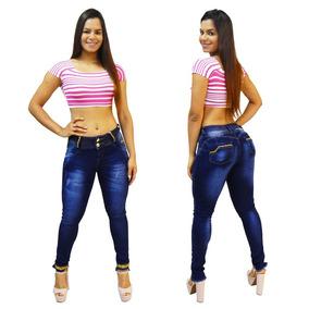 Calça Jeans Via7 Bojo Removível Levanta Bumbum 10268 Detalhe
