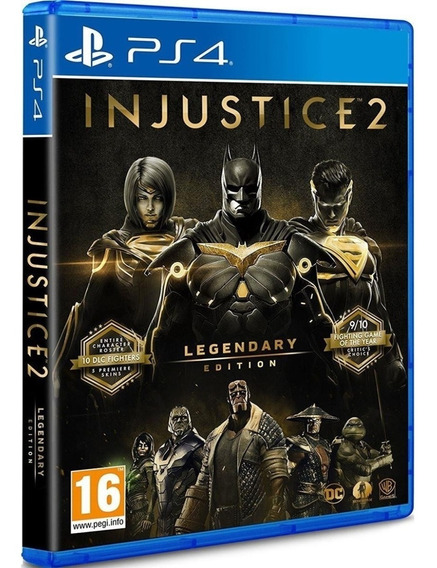 Jogo Injustice 2 Ps4 Disco Fisico Novo Original Dublado Br