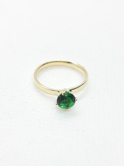 Anel Com Pedra Verde.