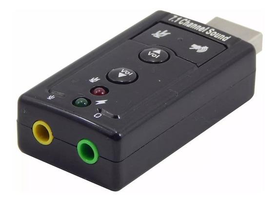 Placa Adaptador De Som Usb 7.1 Canais 3d Adaptador Audio Pc