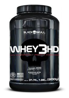 Whey 3 Hd 900g -isolado Concentrado Hidrolisado- Black Skull