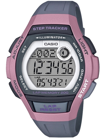 Relógio Feminino Casio Digital Lws-2000h-4avdf - Rosa/cinza