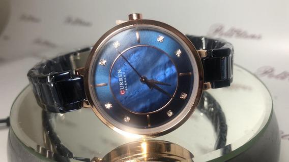 Relógio Feminino Pulso Curren 9051 Quartzo Esportivo K3877