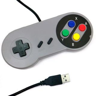 Controle Super Nintendo Snes Usb Pc Emulador Famicon Raspber
