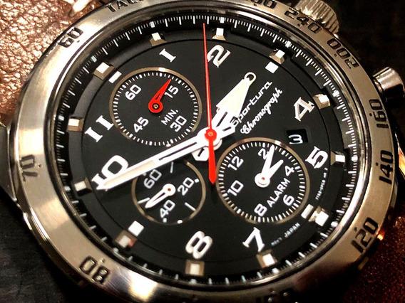 Seiko Sportura Chronograph Quartz 45mm Espetacular Lindo