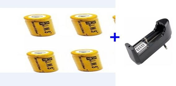 4 Bateria Cr123a Recarregável 16340 + Carregador E