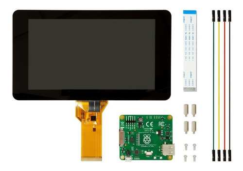 Raspberry Pi 2 Pantalla Display Monitor Touch 7'' Oficial